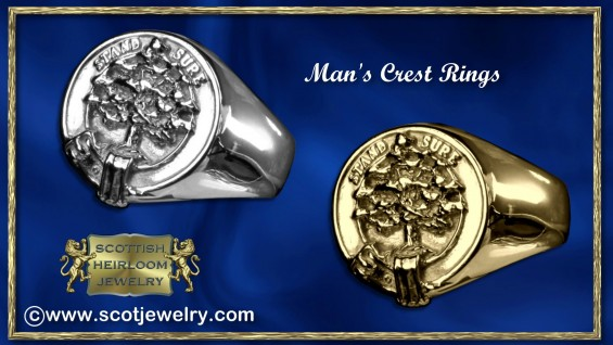 Anderson Clan Crest Signet Ring Family Crest Rings For