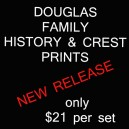 Printed History & Crest - Douglas Clan