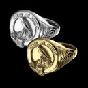 MACDONNELL CLAN crest ring for ladies